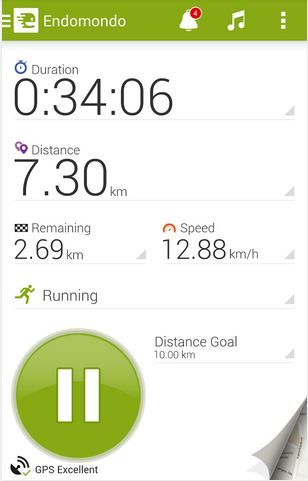 Endomondo Screen Shot