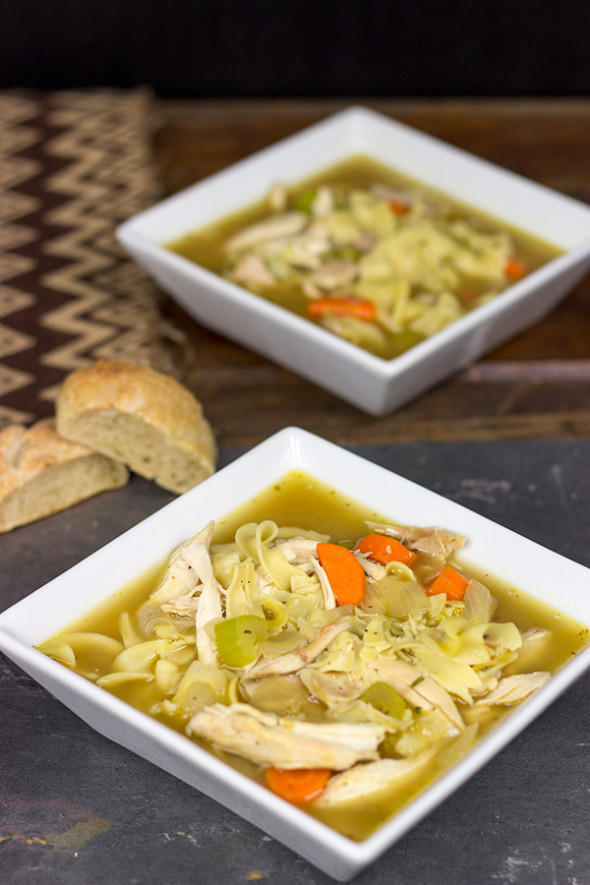 Homemade Chicken Noodle Soup from Spiced Blog