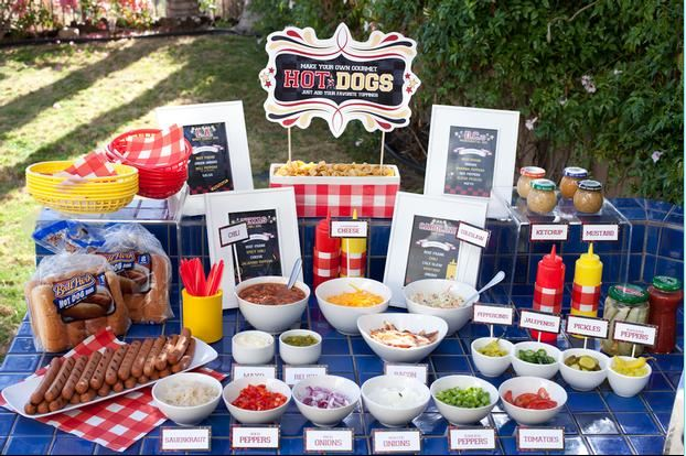 hot dog station - Hostess with the Mostess