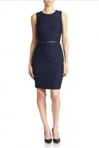 Lord and Taylor - Navy Belted Dress