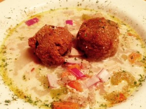 Stuffing Croquettes served with Homemade Turkey Soup